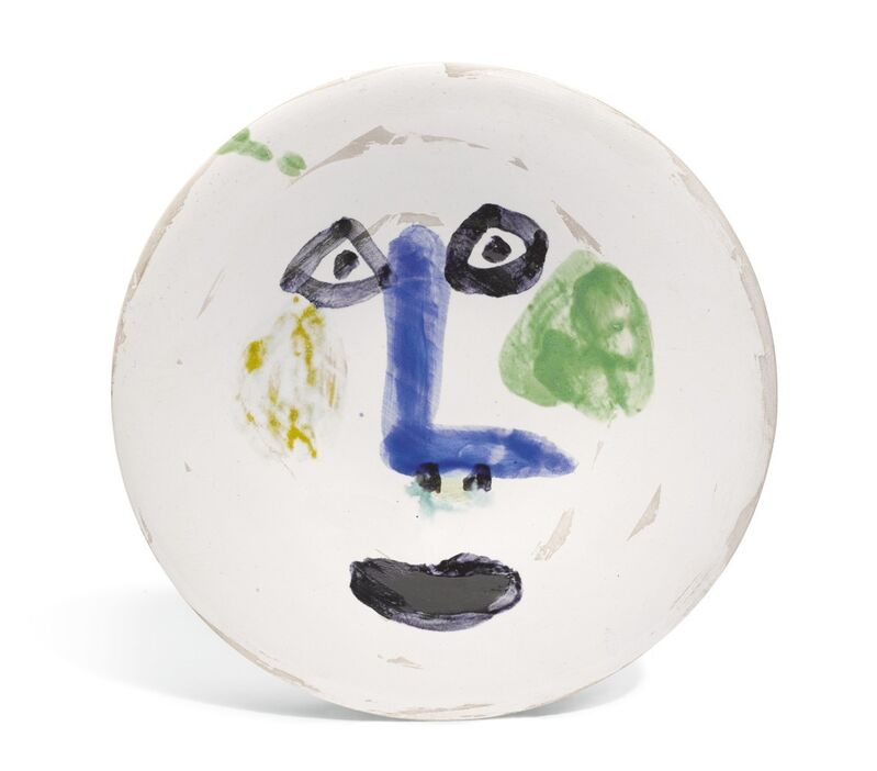 Pablo Picasso, 'Visage nez à angle droit', 1963, Sculpture, Painted and glazed ceramic, BAILLY GALLERY