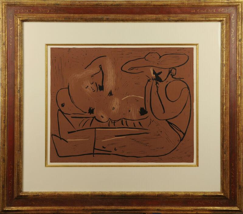 Pablo Picasso, 'L'Aubade avec Joueur d'Harmonica', 1959, Print, Linoleum cut printed in colors on Arches paper, Galerie Michael