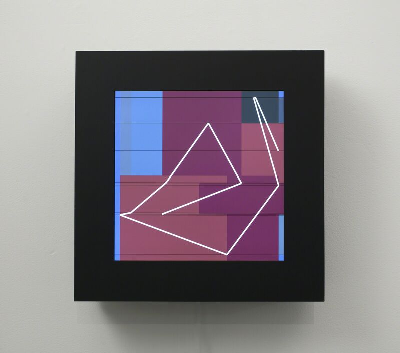 Manfred Mohr, 'P-1622/B', 2013, Installation, LCD screen, computer, custom software, bitforms gallery