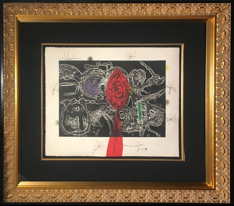 Joan Miró, 'Espriu-Miro', 1975, Print, Etching and aquatint with carborundum in colors, Baterbys