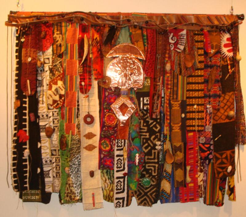 Gloria Kirk, 'Engungun Masquerade', Textile Arts, Mixed Media, Fabric, Wire, Thread, and Metal Wall Hanging, Zenith Gallery