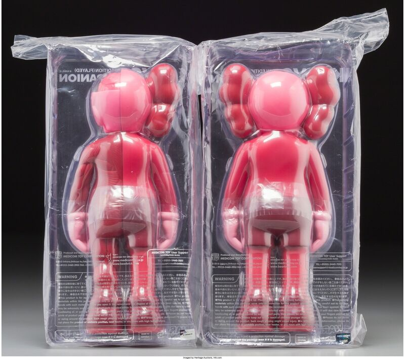 KAWS, 'Companion (Blush) (two works)', 2016, Other, Painted cast vinyl, Heritage Auctions