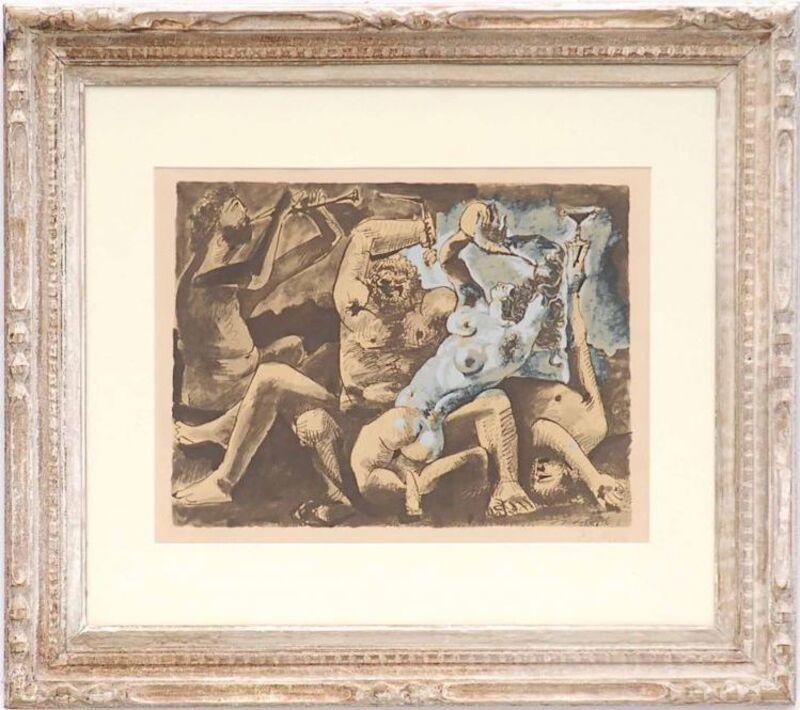 Pablo Picasso, 'Bacchanal', 1975, Print, Pochoir on paper, Dellasposa