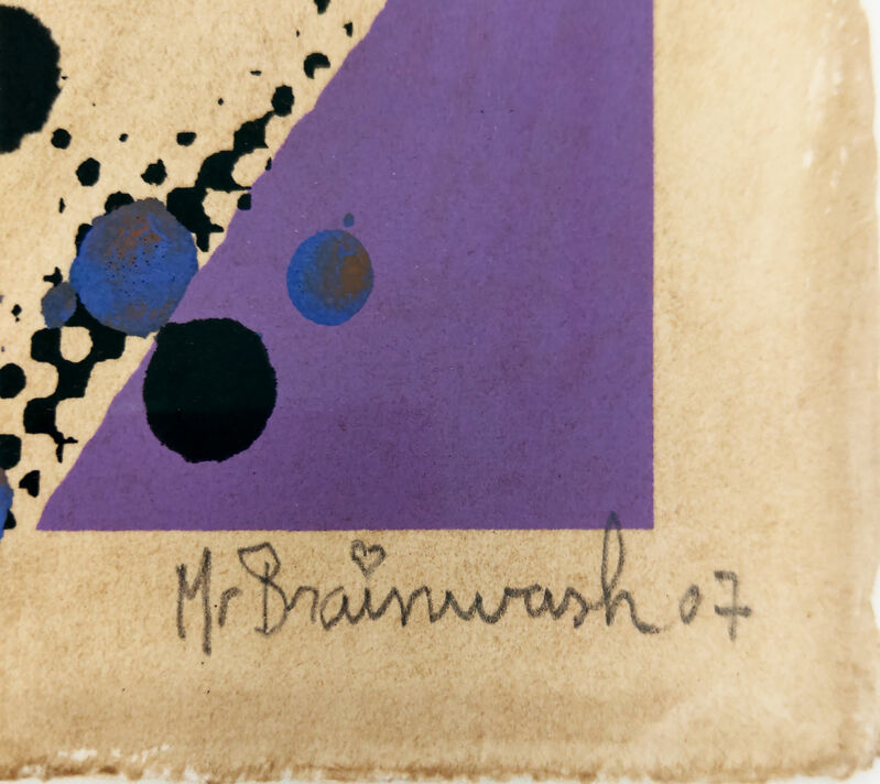 Mr. Brainwash, 'Jimi Hendrix', 2007, Print, Screenprint on hand-torn paper, New Union Gallery