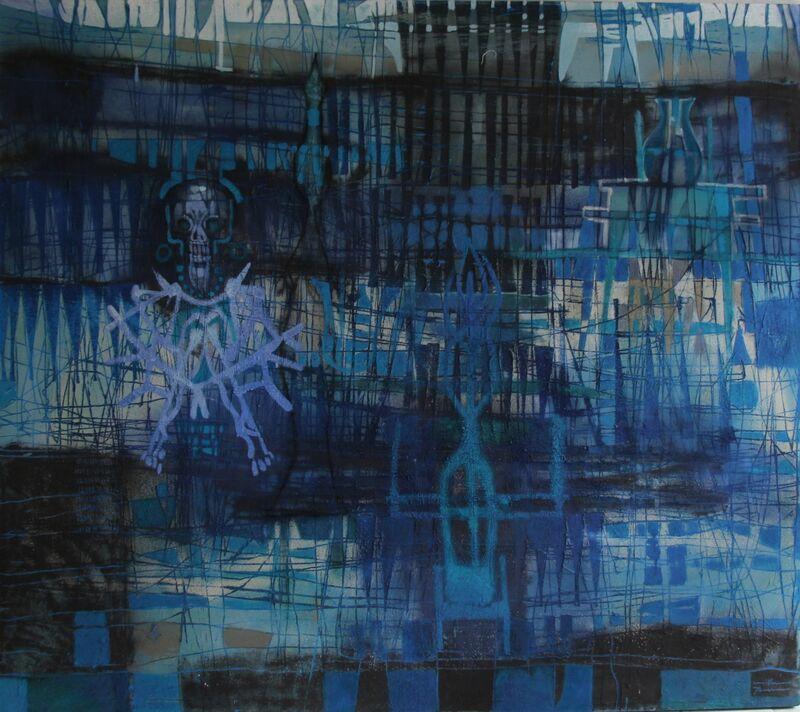 Guillermo Pacheco, 'Xel ha ', 2019, Painting, Oleo y pigmento/tela, Quetzalli Arte y Diseño