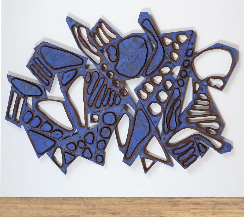 Mel Kendrick, 'Untitled', 2020, Sculpture, Mahogany with blue Japan color, David Nolan Gallery