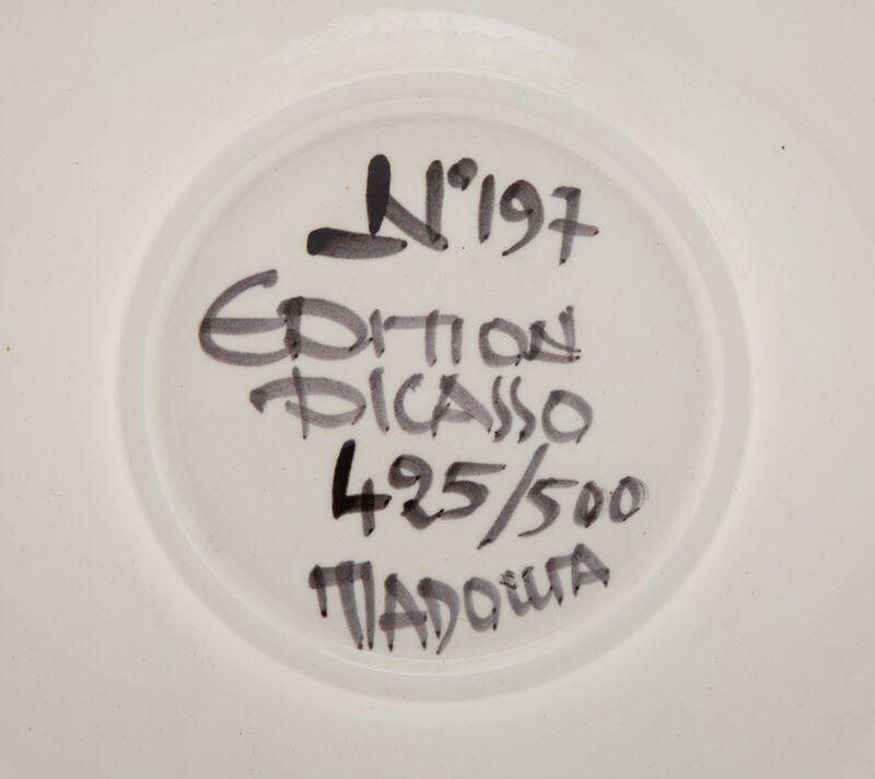 Pablo Picasso, 'Visage No. 197', 1963, Design/Decorative Art, Terre de faïence plate, glazed and painted, Heritage Auctions