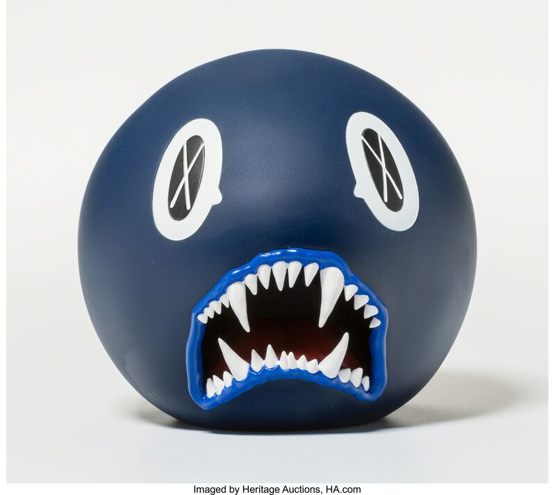 KAWS, 'Cat Teeth Bank (Navy)', 2007, Other, Painted cast vinyl, Heritage Auctions