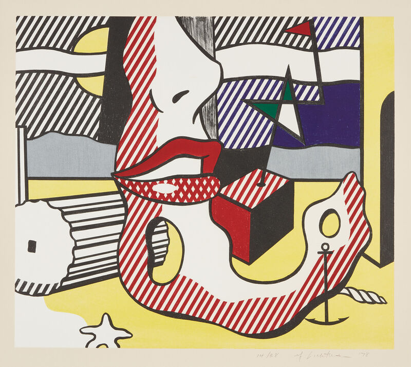 Roy Lichtenstein, 'A Bright Night, from Surrealist Series', 1978, Print, Lithograph in colors, on Arches 88 paper, with full margins., Phillips