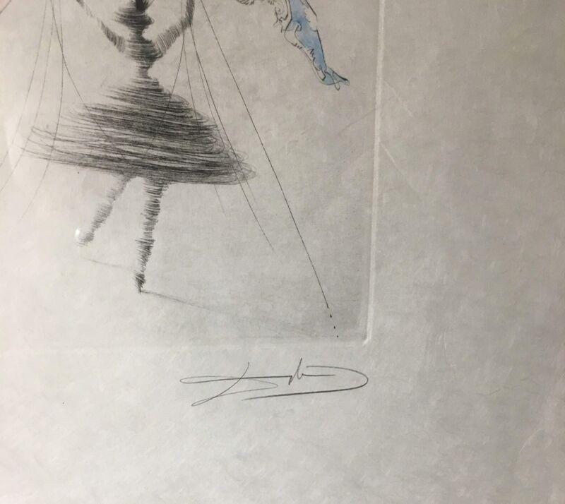 Salvador Dalí, 'Terpsichore (Deeese de la Danse) (Terpsichore (Goddess of Dance))', 1971, Print, Color engraving, lithograph, and hand watercoloring on woven Japon paper, Baterbys
