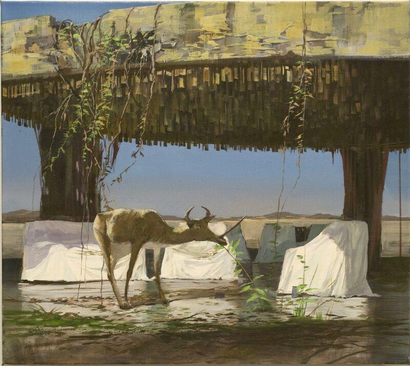 Adam Cvijanovic, 'Caribou', 2010, Painting, Oil on linen, Postmasters Gallery