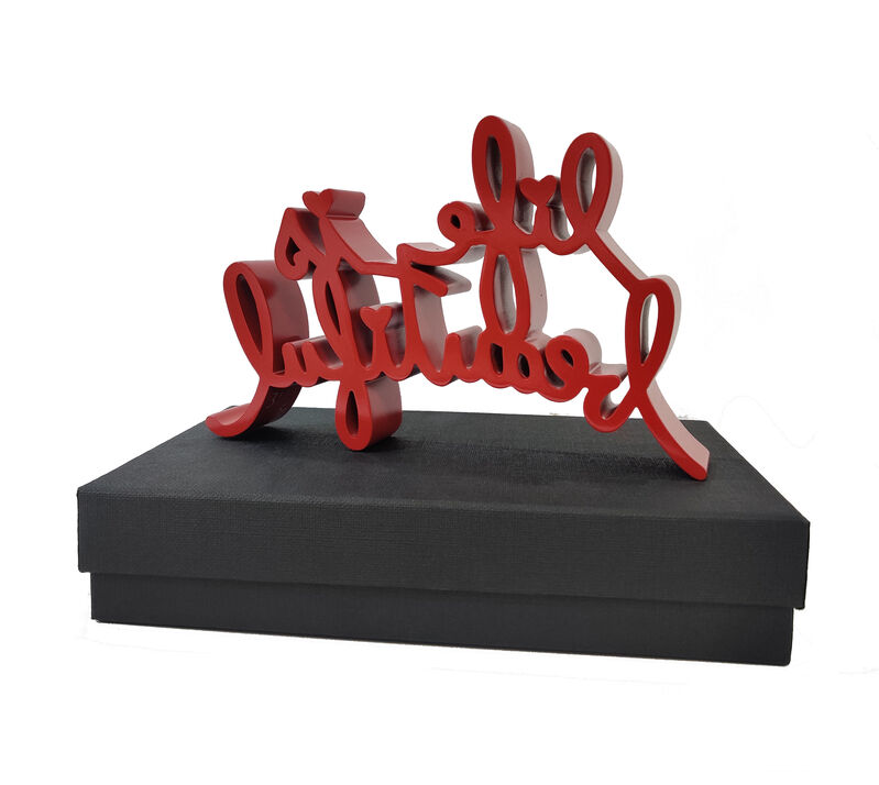 Mr. Brainwash, 'Life is Beautiful (Red Sculpture)', 2020, Sculpture, Resin, Gallery Art Gallery Auction