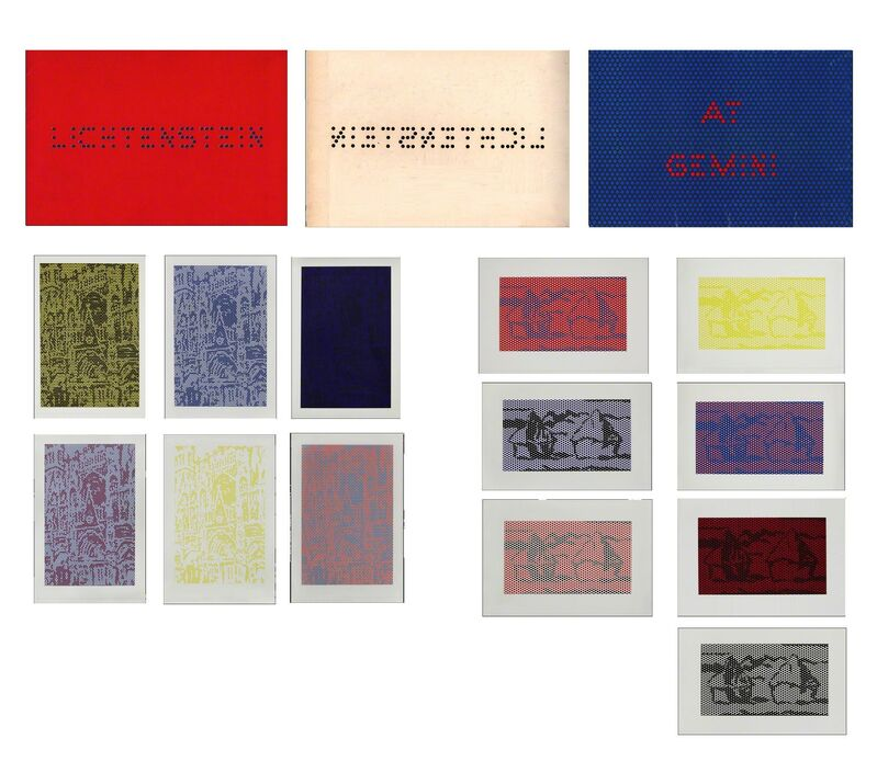 """Roy Lichtenstein, '""""Cathedrals and Haystacks"""", GEMINI Promotional Print Set, 13-Reproductions', 1969, Ephemera or Merchandise, Lithograph on gloss paper, VINCE fine arts/ephemera"""