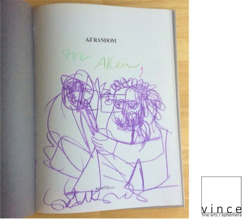 """George Condo, '""""For Allen (Ginsberg)"""", 1997, Inscribed Drawing Signed, Art Random, First Edition, UNIQUE', 1997, Drawing, Collage or other Work on Paper, Colored pencil on paper, VINCE fine arts/ephemera"""