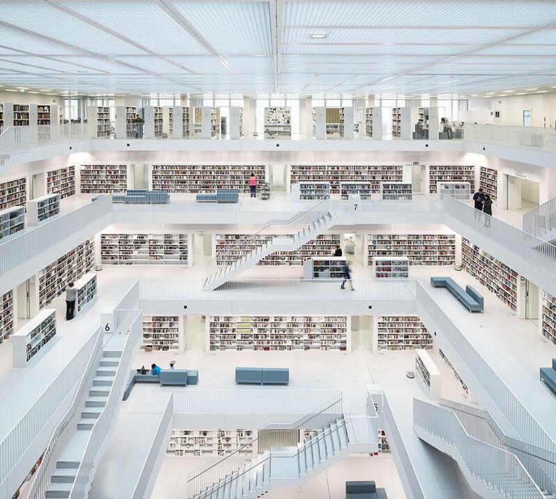 Reinhard Gorner, 'Open Space, City Library, Stuttgart, Germany', 2014, Photography, Lambda Print, Undercurrent Projects