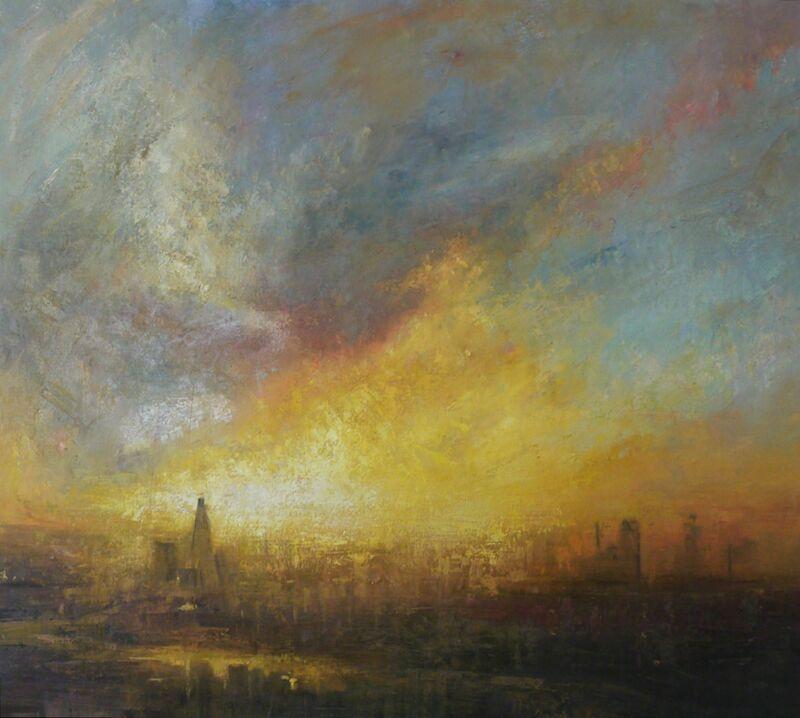 Benjamin Warner, 'Sunset, Shard', 2016, Painting, Oil on canvas, Tanya Baxter Contemporary