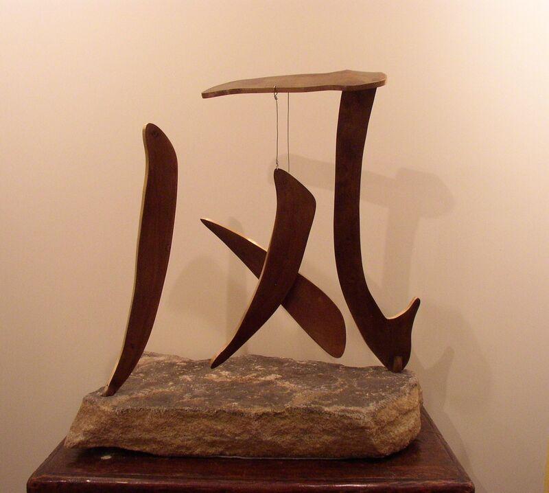 Pattie Porter Firestone, 'Wind/Feng', 2012, Sculpture, Bronze on Stone, Zenith Gallery