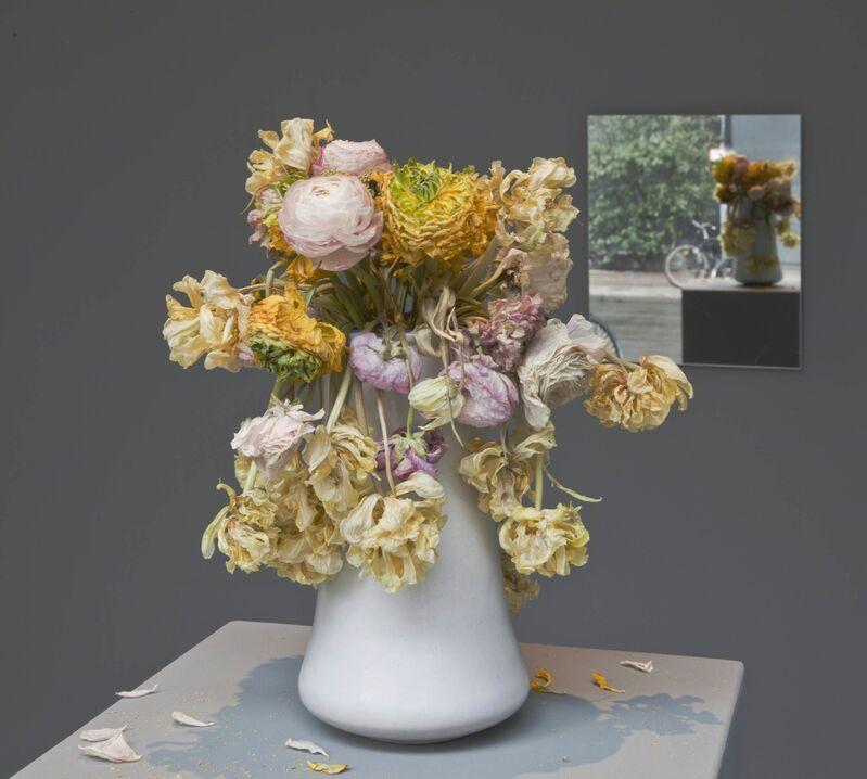 Michael Müller, 'Beziehungen', 2010, Installation, Ceramic vase, pedastal, mirror, and shopping list, Aanant & Zoo