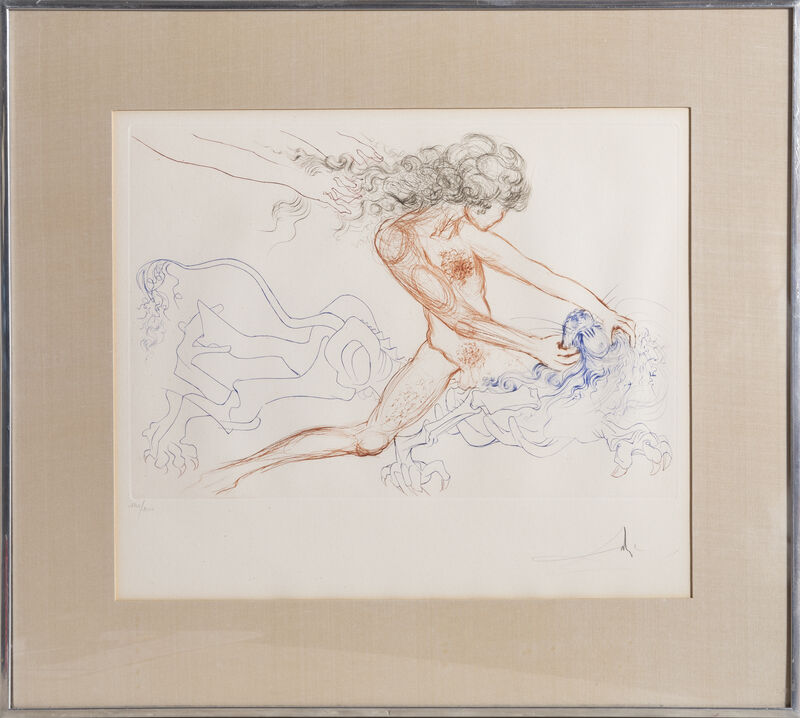 Salvador Dalí, 'Samson and Delilah', 1972, Print, Color Etching, signed and numbered in pencil, RoGallery