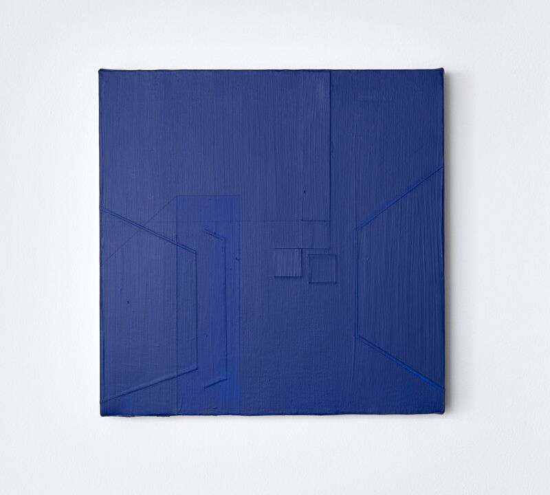 Aaron Kaveh Ossia, 'Self control and the square trio', 2019, Painting, Acrylic on canvas, Alfa Gallery