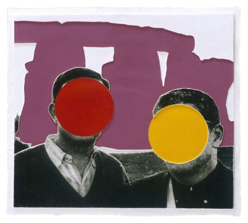 John Baldessari, 'Stonehenge (With Two Persons) Violet', 2005, Print, Mixografía® print on handmade paper, Mixografia