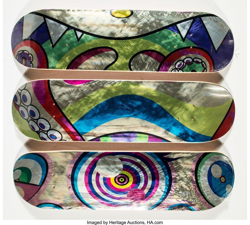 Takashi Murakami, 'Dobtopus (three works)', 2017, Print, Screenprints in colors on skate decks, Heritage Auctions