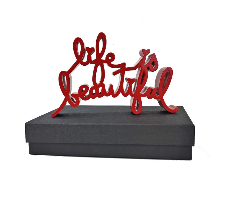 Mr. Brainwash, 'LIFE IS BEAUTIFUL (RED)', 2020, Sculpture, CAST RESIN, Gallery Art