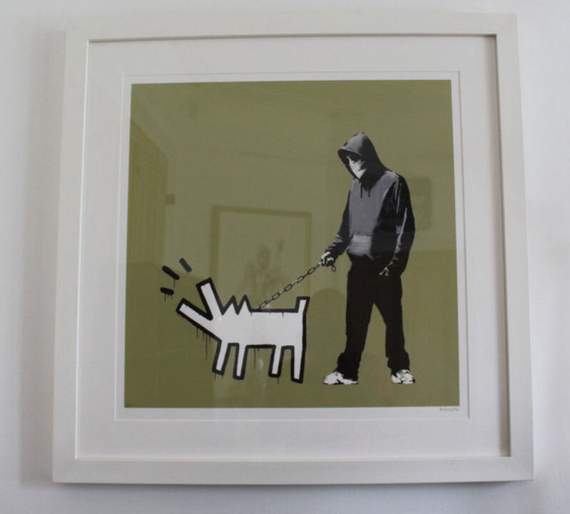 Banksy, 'Choose Your Weapon (Olive Colorway)', 2010, Print, Screenprint in colors on wove paper with full margins, MoonStar Fine Arts Advisors