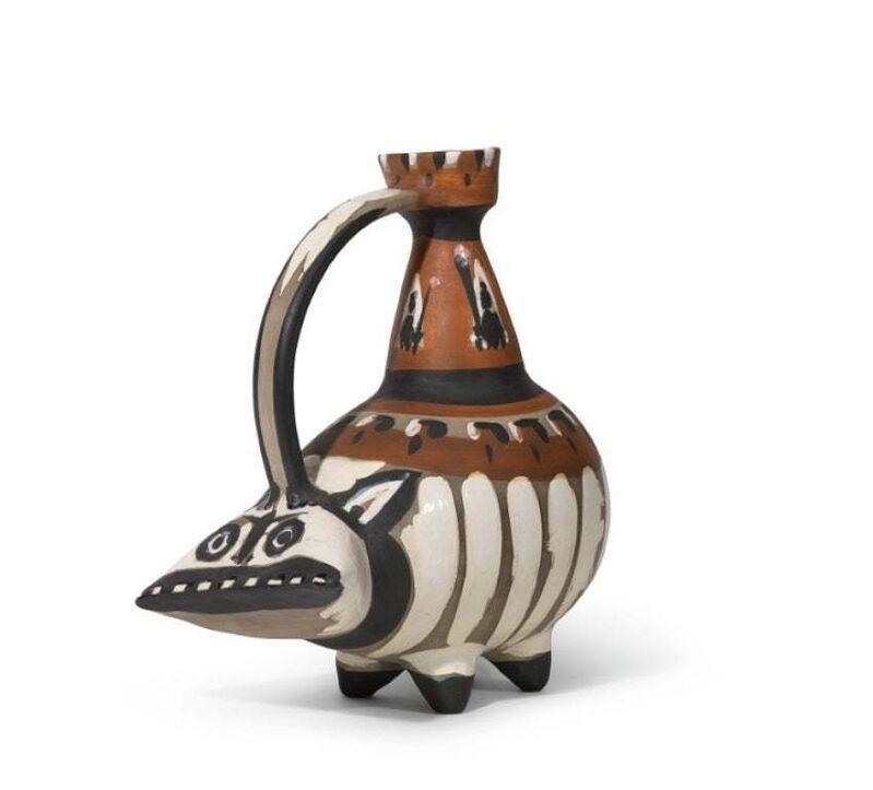 Pablo Picasso, 'Madoura Ceramic Pitcher-'Tarasque,' Ramié 247', 1950-1959, Sculpture, Ceramic,Earthenware, Hirth Fine Art