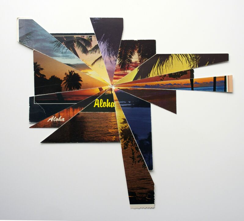 Ghost of a Dream, 'Aloha Aloha', 2015, Mixed Media, Postcards collage, Galerie Paris-Beijing