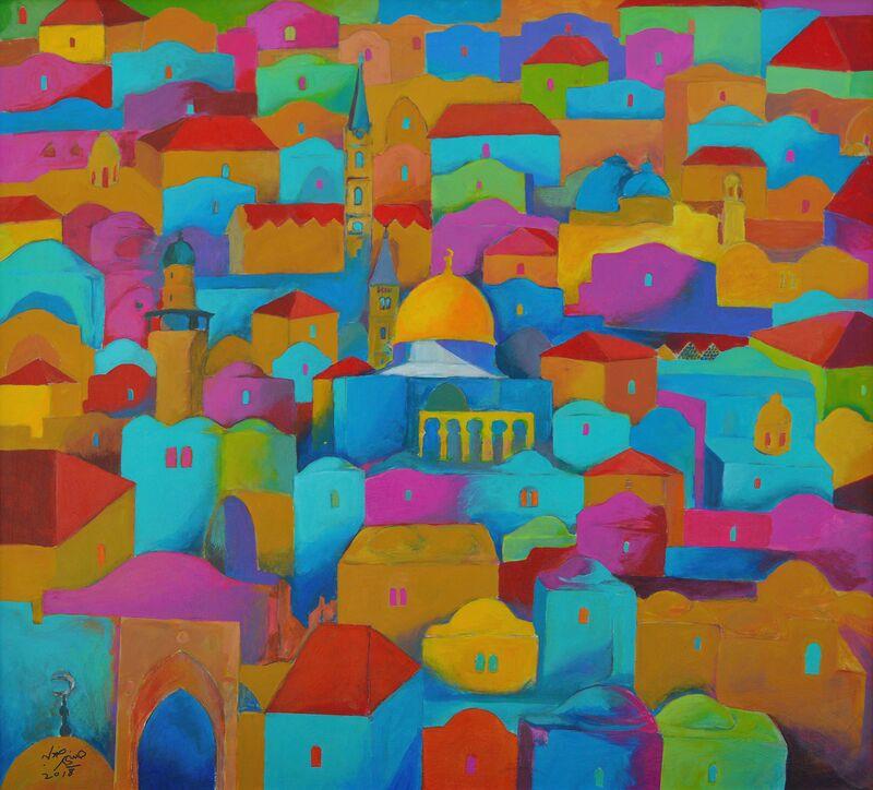 Hosni Radwan, 'Jerusalem #6', 2018, Painting, Acrylic on canvas, Zawyeh Gallery