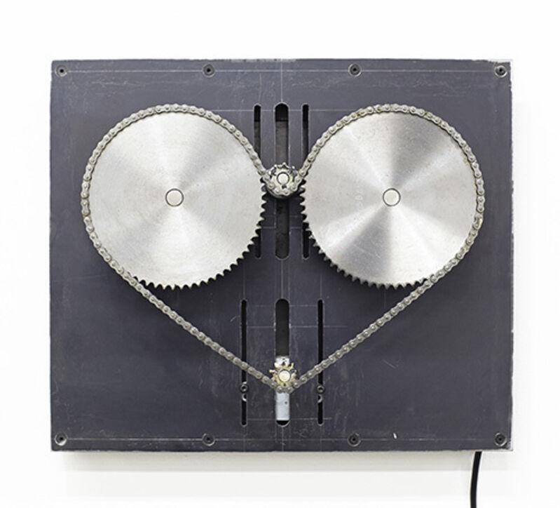 Satoru Tamura, 'Heart Machine #13', 2014, Sculpture, Steel, chains, bearings, motors etc., Tezukayama Gallery