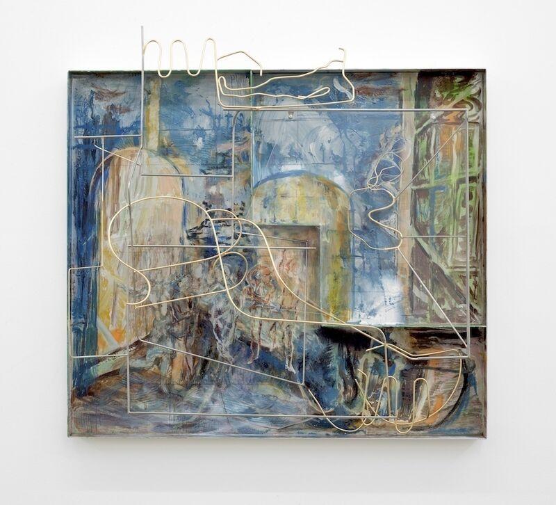 Sara Barker, 'Saturnine night', 2018, Sculpture, Steel rod, aluminium sheet,automotive paint, perspex, carlier   gebauer