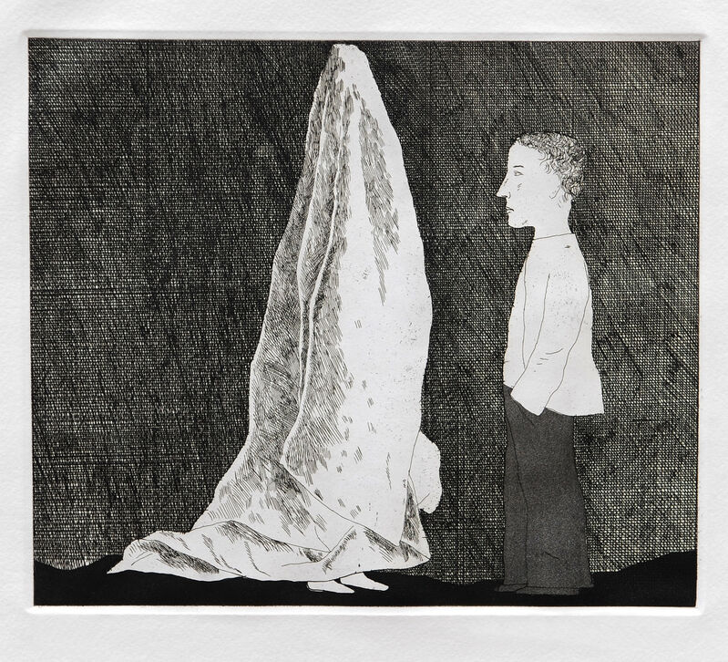 David Hockney, 'The Sexton Disguised as a Ghost', 1969, Print, Etching and aquatint, Goldmark Gallery