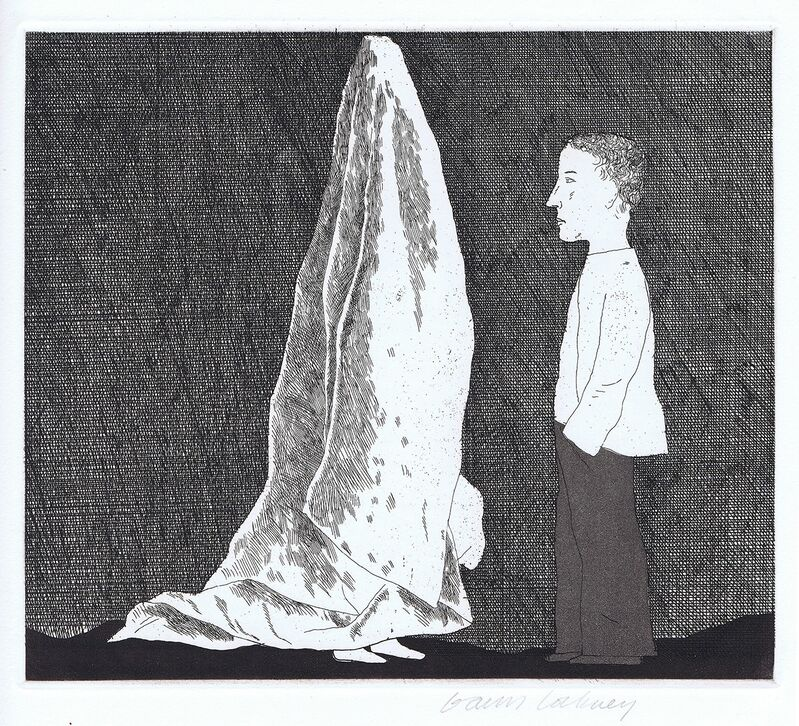 David Hockney, 'The Sexton Disguised as a Ghost', 1969, Print, Etching, Gerrish Fine Art