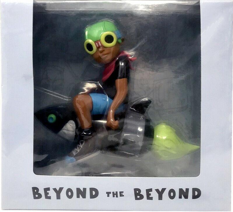 Hebru Brantley, 'Hebru Brantley Flyboy (Beyond the Beyond)', 2017, Sculpture, Painted vinyl cast resin, Lot 180