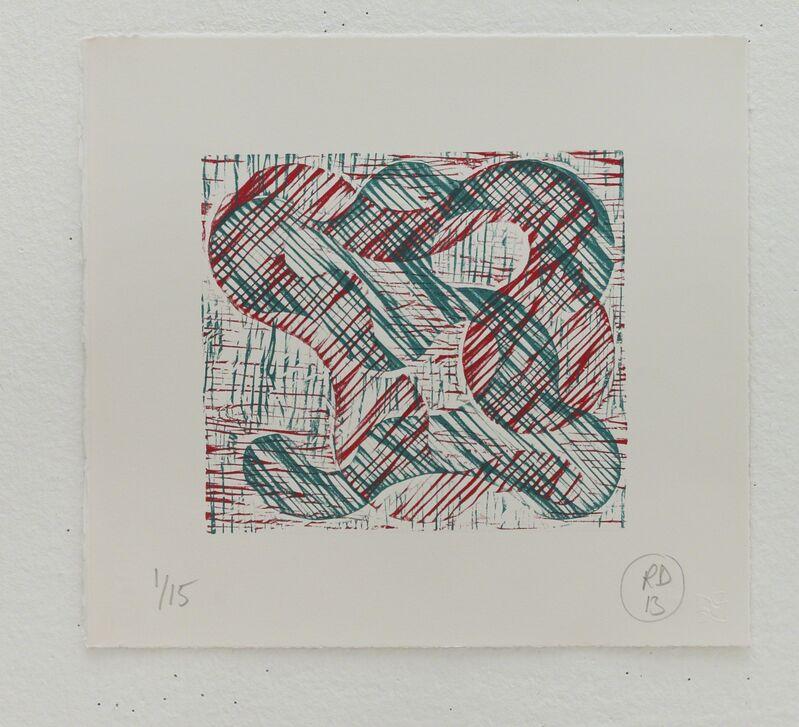 Richard Deacon, '1+1=10 Red/Green', 2013, Print, Relief print, Fabriano 100% cotton paper, STPI