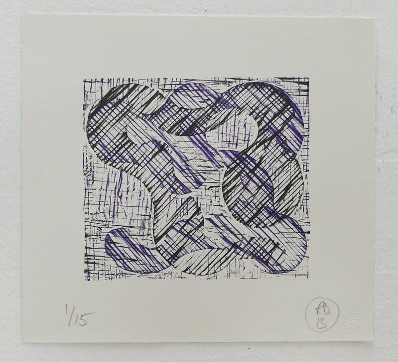 Richard Deacon, '1+1=10 Black/Purple', 2013, Print, Relief print, Fabriano 100% cotton paper, STPI