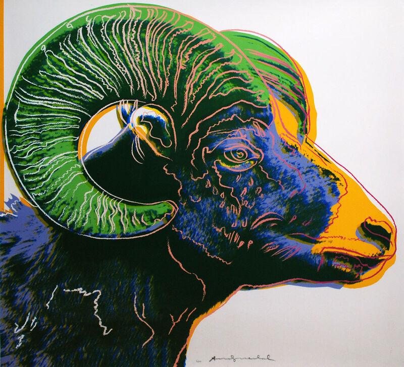 Andy Warhol, 'Bighorn Ram (FS II.302) ', 1983, Print, Screenprint on Lenox Museum Board, Revolver Gallery