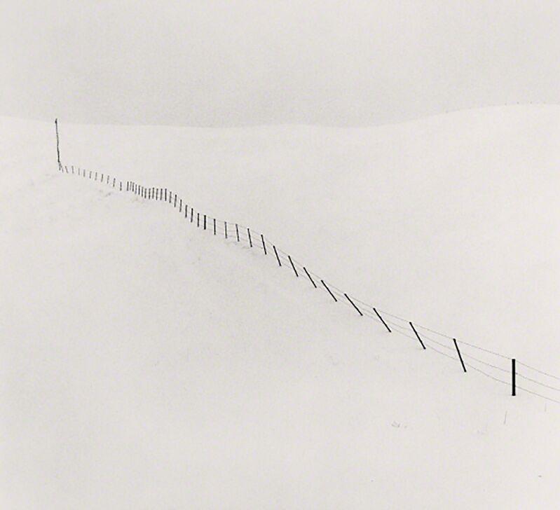 Michael Kenna, 'Hillside Fence, Study 1, Teshikaga, Hokkaido, Japan', 2002, Photography, Silver gelatin print, Patricia Conde Galería