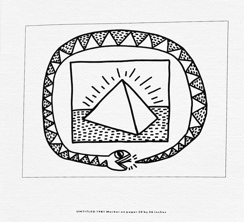 Keith Haring, 'Keith Haring Memorial announcement (Tony Shafrazi gallery)', 1990, Ephemera or Merchandise, Gallery announcement on heavy stock paper, Lot 180