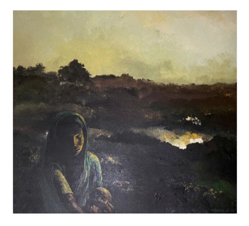 Bikash Bhattacharjee, 'In Evening', 1996, Painting, Oil on canvas, Artsy x Rago/Wright