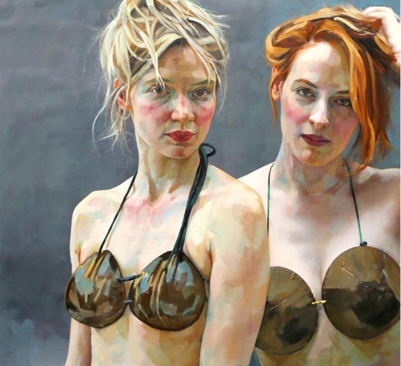 Xenia Hausner, 'Twin Peaks', 2016, Painting, Lukas Feichtner Gallery