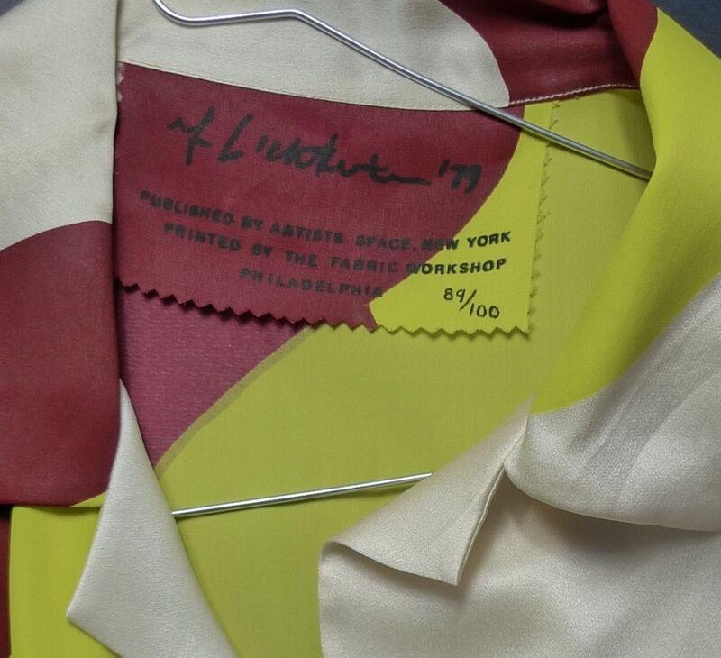 Roy Lichtenstein, 'Untitled Shirt', 1979, Textile Arts, Silk sateen, Bengtsson Fine Art