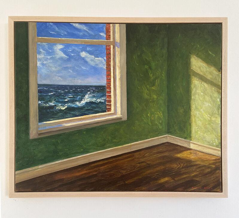 Mark Beck, 'Sea Watcher', 2020, Painting, Acrylic on canvas (framed), Sue Greenwood Fine Art