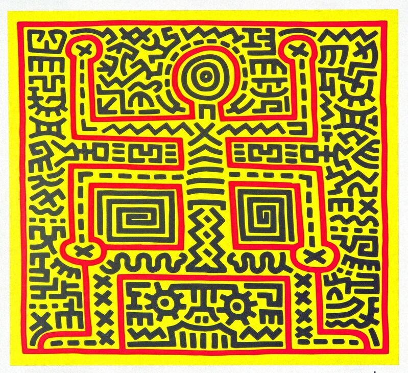 Keith Haring, 'Untitled (Abstract Figure)', ca. 1983, Print, Silkscreen on paper, The Painting Center