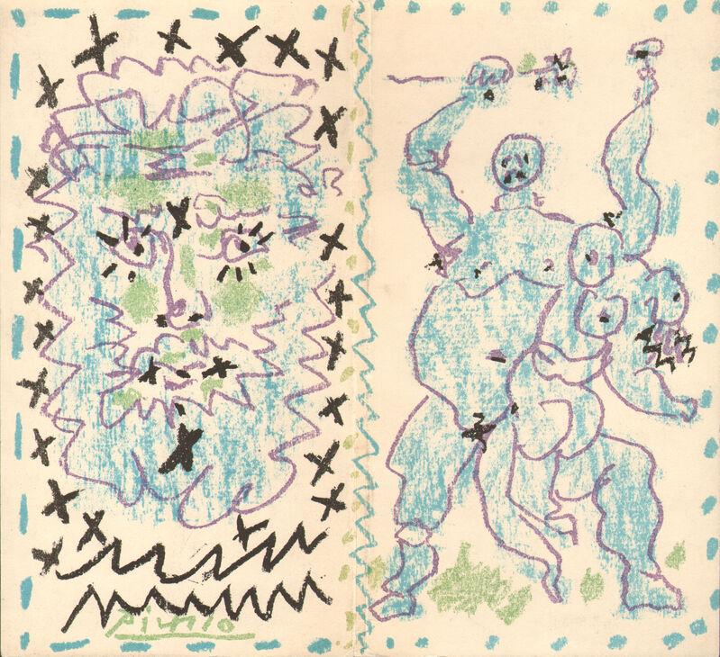 Pablo Picasso, 'Couverture pour un Catalogue', 1956, Print, Original lithograph in colors, Galerie Fetzer