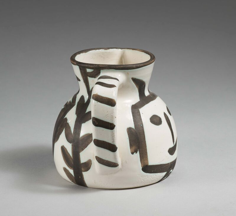 Pablo Picasso, 'Square-headed pitcher', 1953, Design/Decorative Art, White earthenware clay, partially polychromed, Van Ham