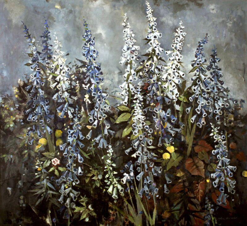 John Alexander, 'Foxglove's Journey,', 2016, Painting, Oil on canvas, Berggruen Gallery
