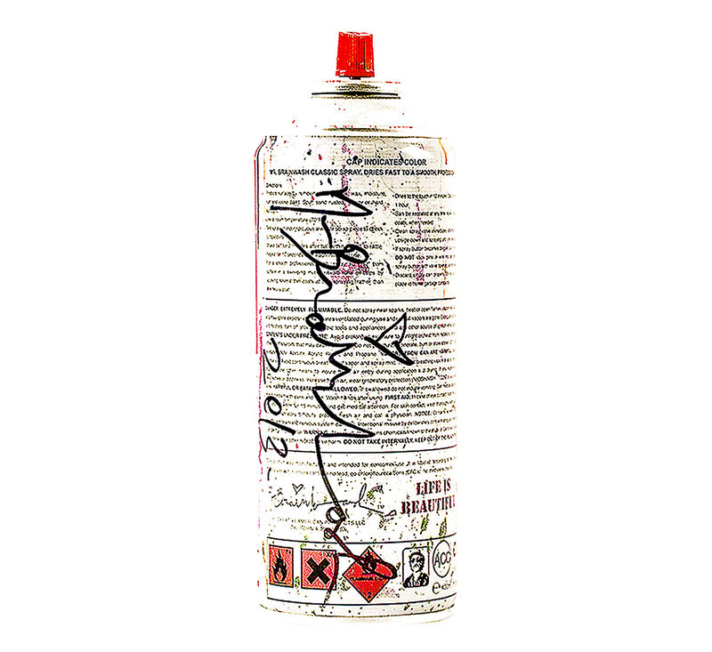 Mr. Brainwash, 'SPRAY CAN ORANGE (Hand Finished)', 2013, Sculpture, Metal can with Original Mr. Brainwash label and Orange Paint., Silverback Gallery